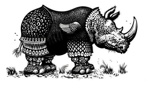 Nick-Morley_Rhinoceros-after-Durer_Resort-studios-Margate_