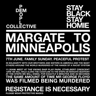 Margate Black Lives Matter March, 7th June, 11.30am